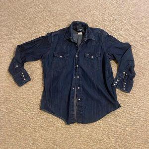 Men's vintage? wrangler jeans shirt